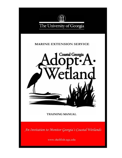 The title page of the Adopt-A-Wetland training manual.