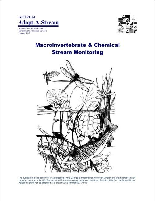 Title page of the macroinvertebrate and chemical monitoring manual