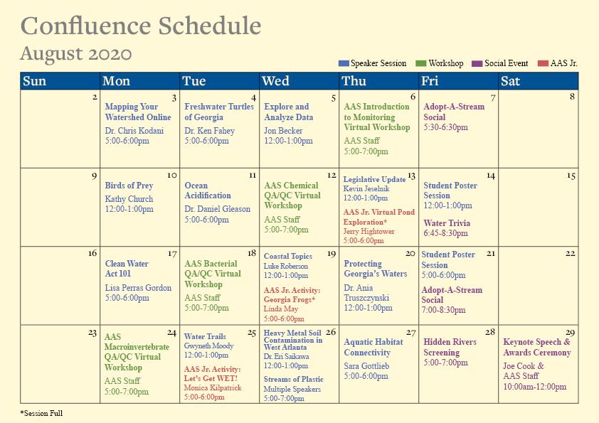 Confluence 2020 Schedule